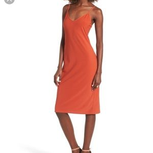 NWOT Leith Cami Orange Slipdress Dress